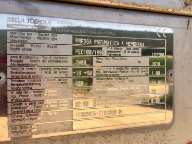 Sonstige Obsttechnik & Weinbautechnik a típus Sonstige DELLA TOFFOLA - Pressoir - 150 HL, Gebrauchtmaschine ekkor:  (Kép 6)
