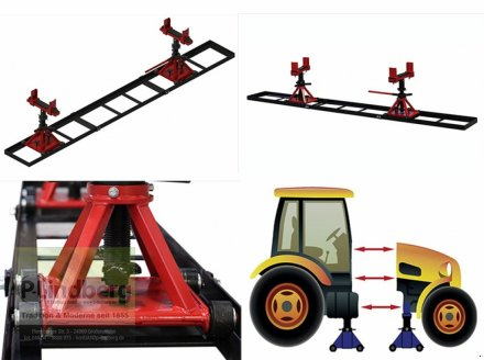 Sonstige Traktoren des Typs P.Lindberg GmbH Trennvorrichtung f.Traktor Traglast Max.5 Tonnen jeStuetzbock-Schienenlaenge-3m, Neumaschine in Großenwiehe (Bild 1)