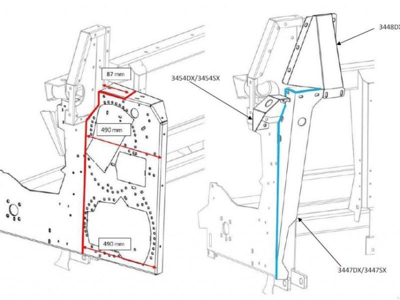Sonstiges Feldhäckslerzubehör tip Capello Adapter (Umbausatz) Feldhäcksler für Maispflücker, Neumaschine in Schutterzell (Poză 1)
