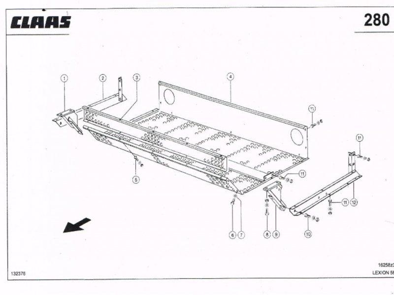Sonstiges Mähdrescherzubehör tip CLAAS Ersatzteile für Lexion 580, Gebrauchtmaschine in Schutterzell (Poză 1)