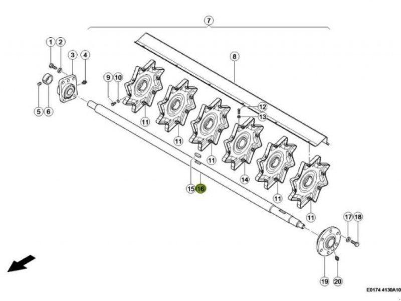Sonstiges Mähdrescherzubehör tip CLAAS Wendetrommelwelle für Lexion 440 bis 670, Gebrauchtmaschine in Schutterzell (Poză 1)