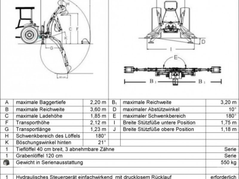 Sonstiges Traktorzubehör des Typs Vielitz HB360, Neumaschine in Obing (Bild 1)