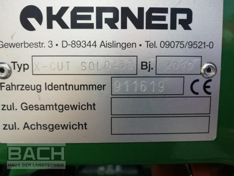 Sonstiges типа Kerner X-CUT SOLO 450, Neumaschine в Boxberg-Seehof (Фотография 4)