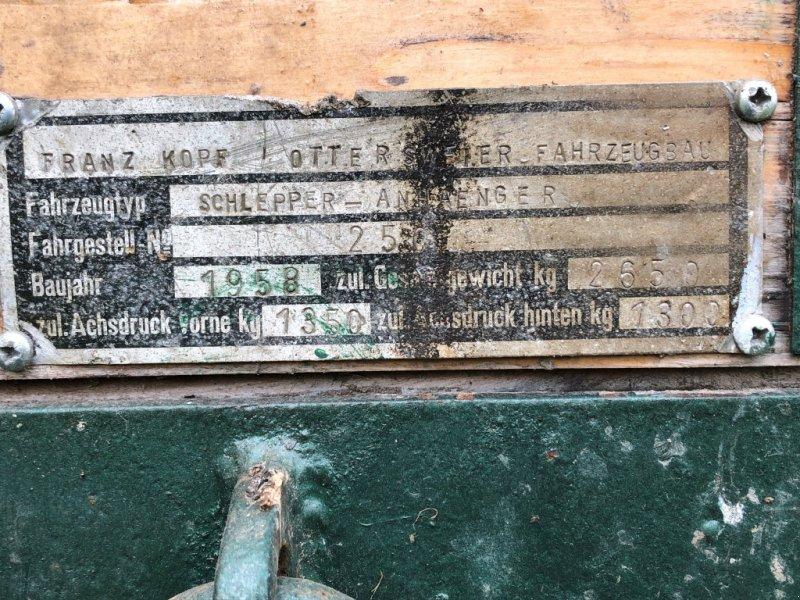 Sonstiges типа Kopf Landwirtschaftlicher Anhänger, Gebrauchtmaschine в Bühl (Фотография 4)
