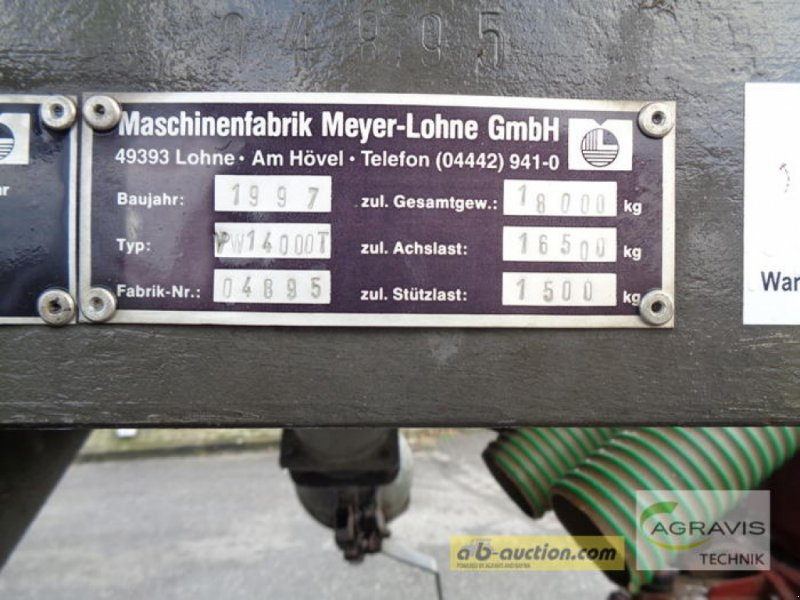 Sonstiges des Typs Meyer Lohne REKORDIA VW 14000 T, Gebrauchtmaschine in Gyhum-Nartum (Bild 13)