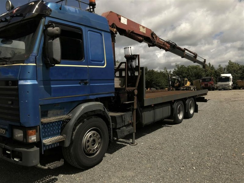 Фотография Scania 113  med  17-ton  meter  HMF  kran