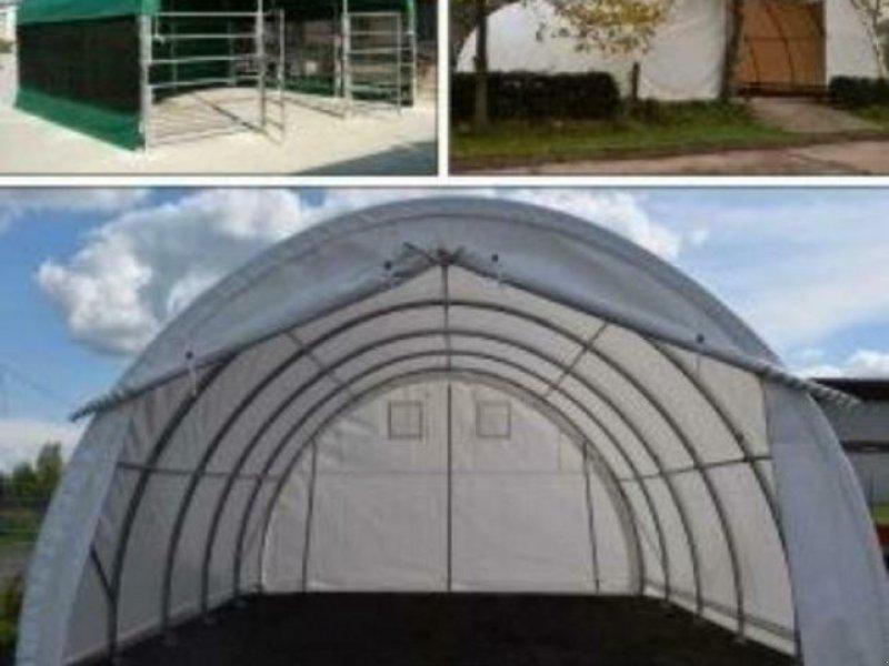 Sonstiges des Typs Sonstige Leichtbauhalle Rundbogenhalle Zelt 26x9,15x4,5m STATIK NEU, Neumaschine in Rodeberg OT Eigenrieden (Bild 1)