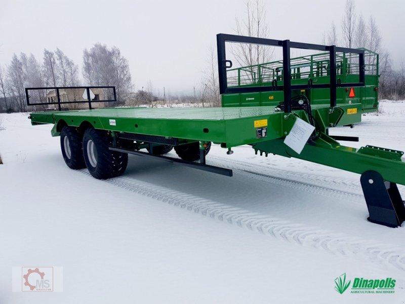 Tieflader des Typs Dinapolis Ballenwagen Hydraulische absenkbare Rampe Druckluft, Neumaschine in Tiefenbach (Bild 1)