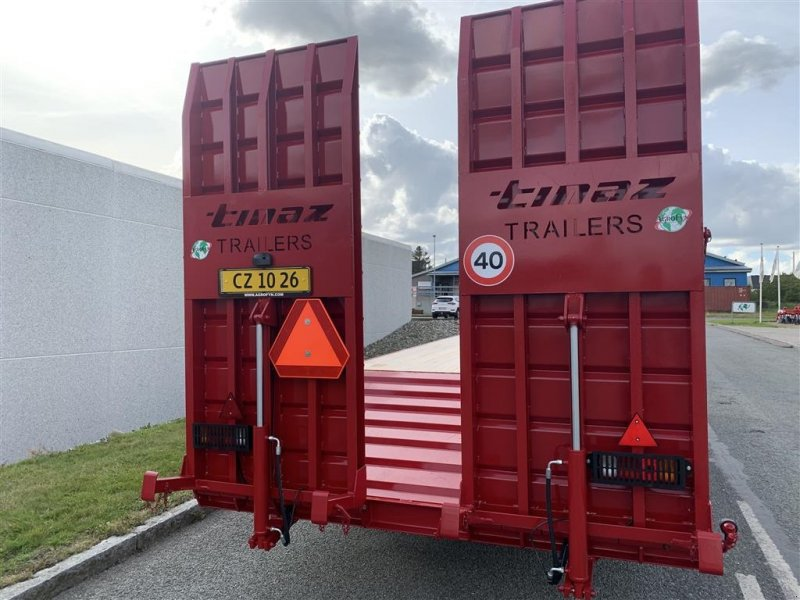 Tieflader des Typs Tinaz 12 tons maskintrailer med hydrauliske bredde ramper, Gebrauchtmaschine in Ringe (Bild 8)