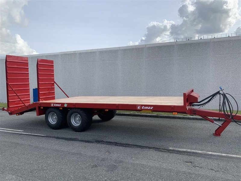 Tieflader des Typs Tinaz 12 tons maskintrailer med hydrauliske bredde ramper, Gebrauchtmaschine in Ringe (Bild 1)