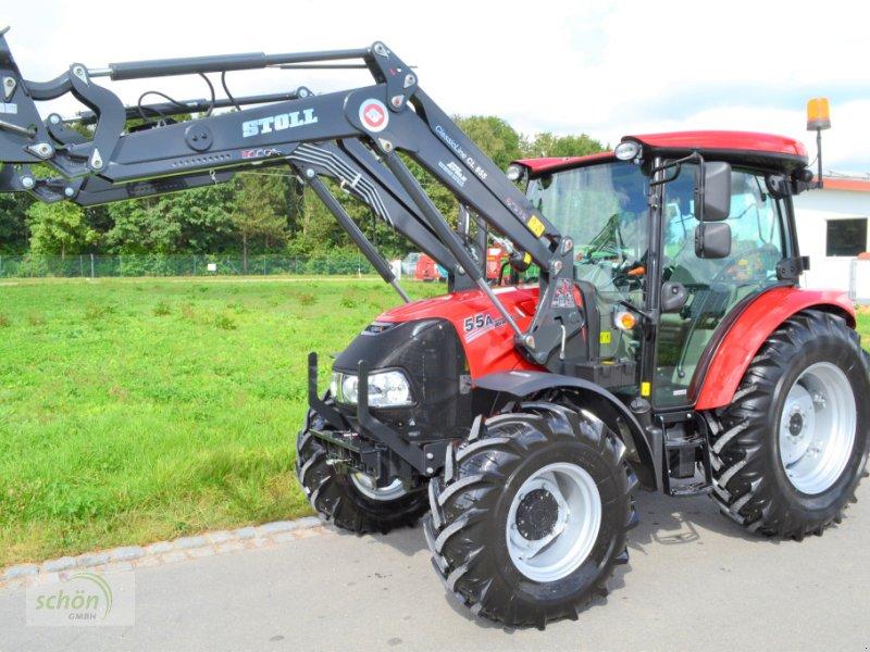 Traktor des Typs Case IH Farmall 55 A mit Stoll CL 855 P Frontlader mit 3.Steuerkreis... und mit luftgefedertem Sitz, Gebrauchtmaschine in Burgrieden (Bild 1)