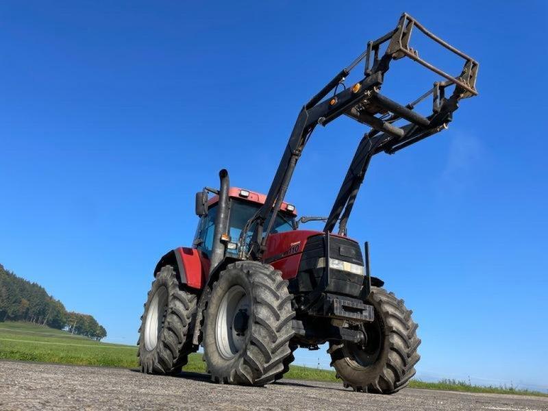 Traktor des Typs Case IH MX 110 mit Frontlader, Gebrauchtmaschine in Steinau  (Bild 1)