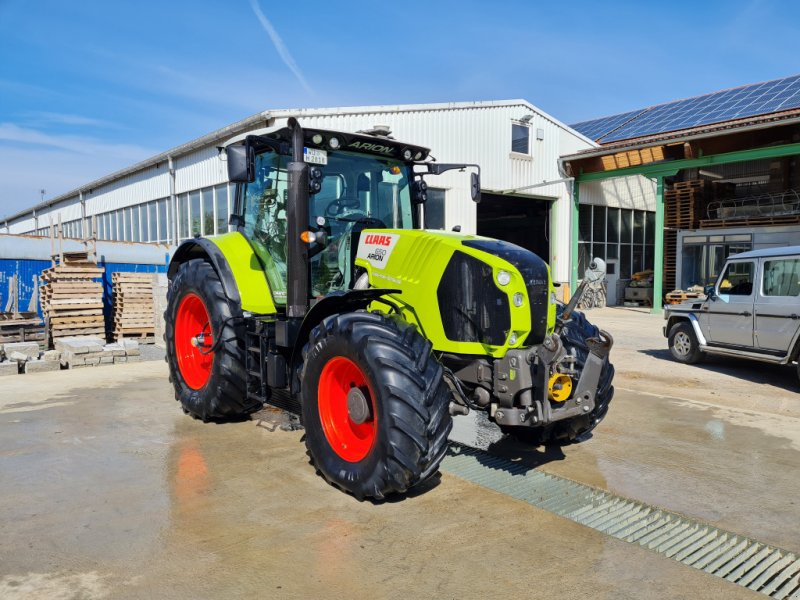 Traktor типа CLAAS Arion 650 C-Matic, Trimble RTK, PTG RFA, Gebrauchtmaschine в Geroldshausen (Фотография 1)