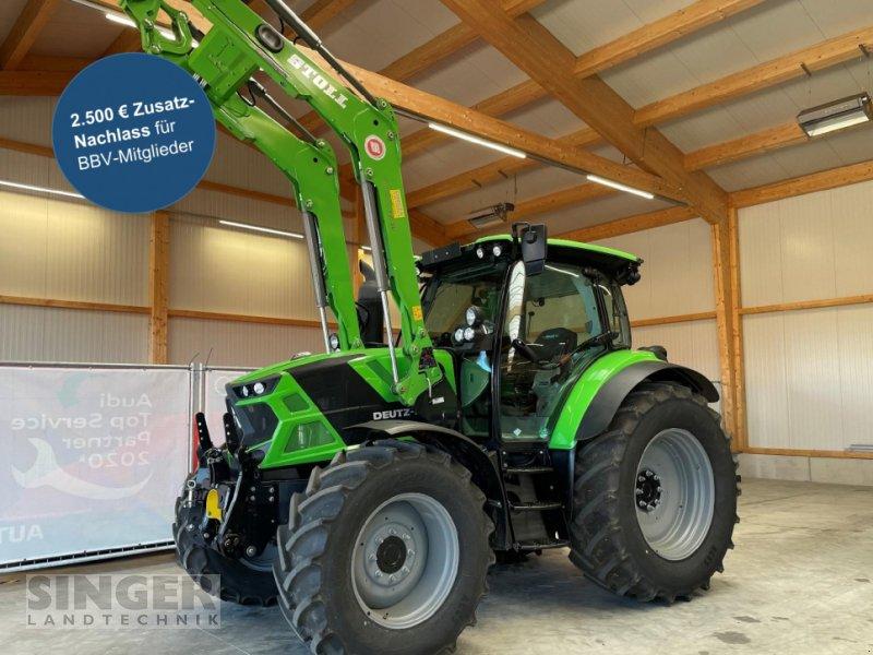 Traktor des Typs Deutz-Fahr 6130 TTV FL, FKH, FZW, DL, 50Km/h, BBV-Aktion, Neumaschine in Ebenhofen (Bild 1)