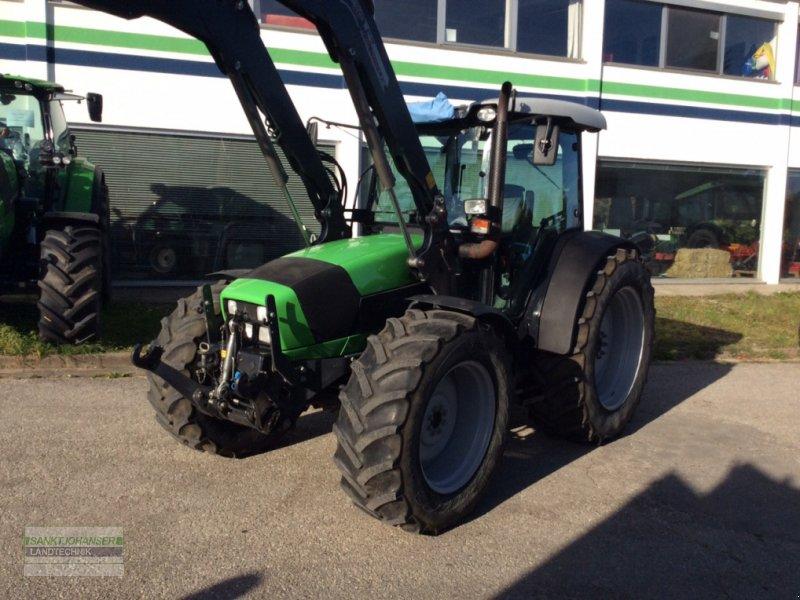 Traktor des Typs Deutz-Fahr Agrofarm 430 TTV mit Stoll Frontlader, Gebrauchtmaschine in Diessen (Bild 1)