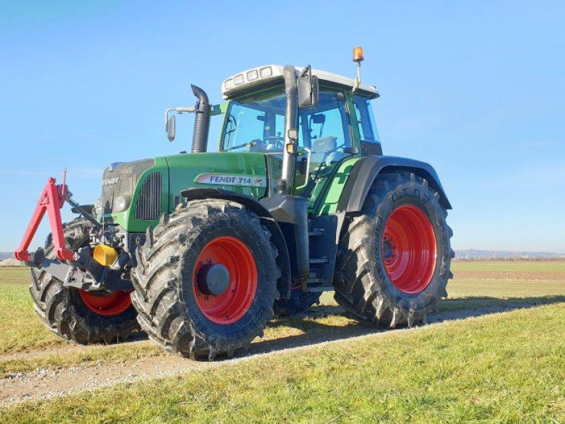 Traktor des Typs Fendt 714 Vario TMS, Gebrauchtmaschine in Dirlewang (Bild 1)