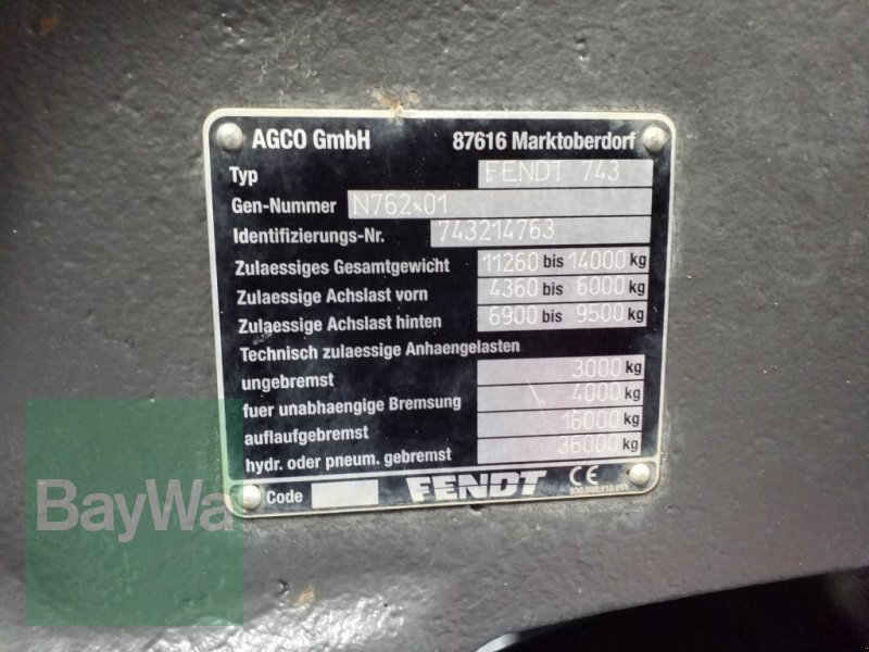 Traktor des Typs Fendt 724 Vario Profi Plus + Garantie + RTK Spurführung, Gebrauchtmaschine in Bamberg (Bild 22)