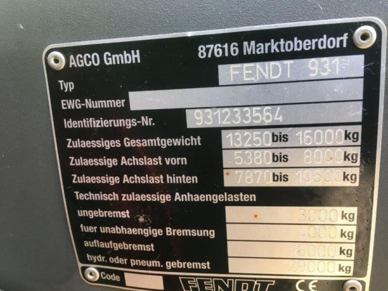 Traktor typu Fendt 933 Vario, Gebrauchtmaschine v Plau am See / OT Klebe (Obrázok 12)