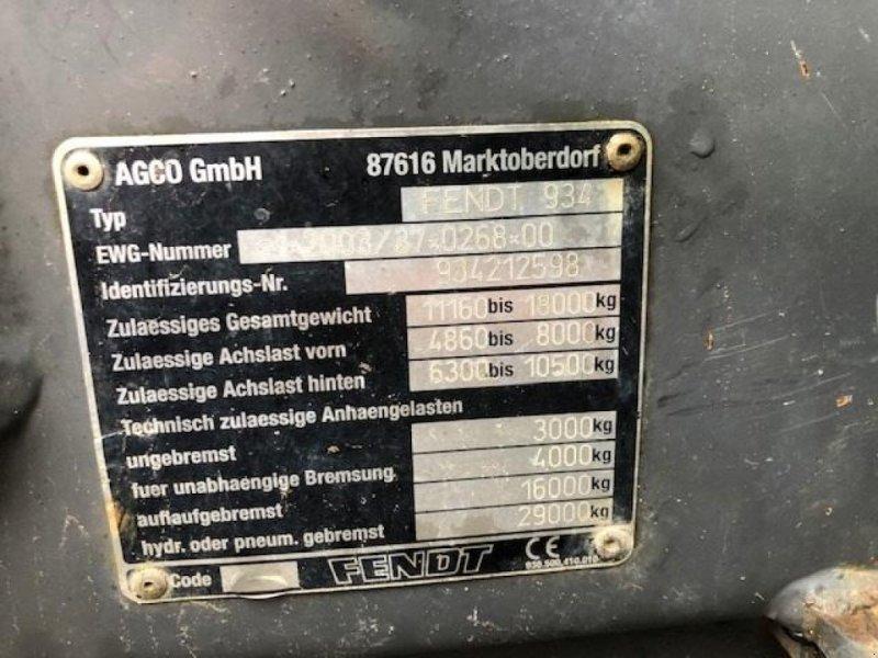 Traktor типа Fendt 936 Vario Profi Skovudstyr. Fuld skovinddækning, Gebrauchtmaschine в Nykøbing Falster (Фотография 8)