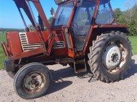 Fiat 70-90 Comfort med frontlæsser og nye bagdæk Traktor
