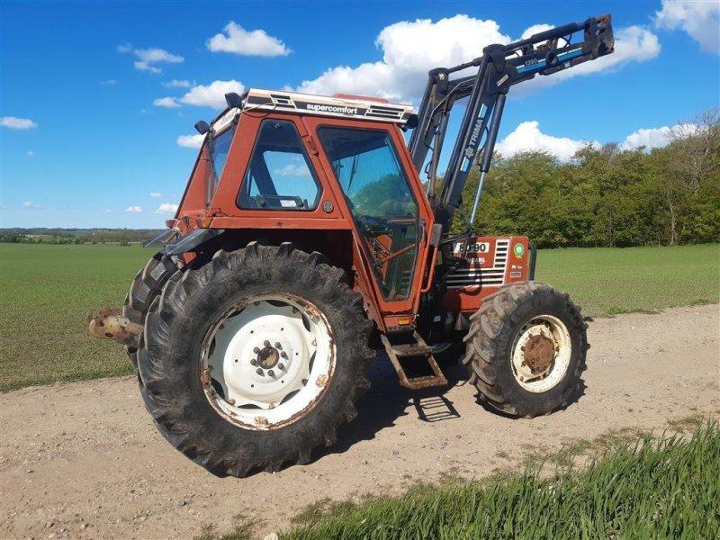 Traktor des Typs Fiat 80-90 DT med Trima frontlæsser Super Comfort Hi Lo og vendegear, Gebrauchtmaschine in Skive (Bild 3)