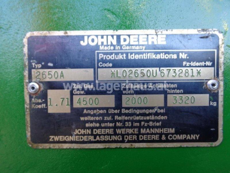 Traktor типа John Deere 2650 A, Gebrauchtmaschine в Neukirchen am Walde (Фотография 4)