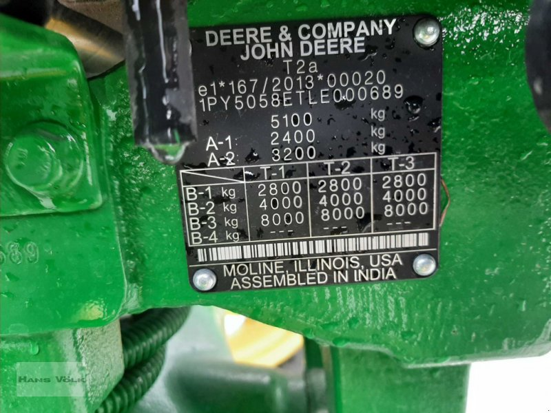 Traktor des Typs John Deere 5058E, Gebrauchtmaschine in Antdorf (Bild 17)