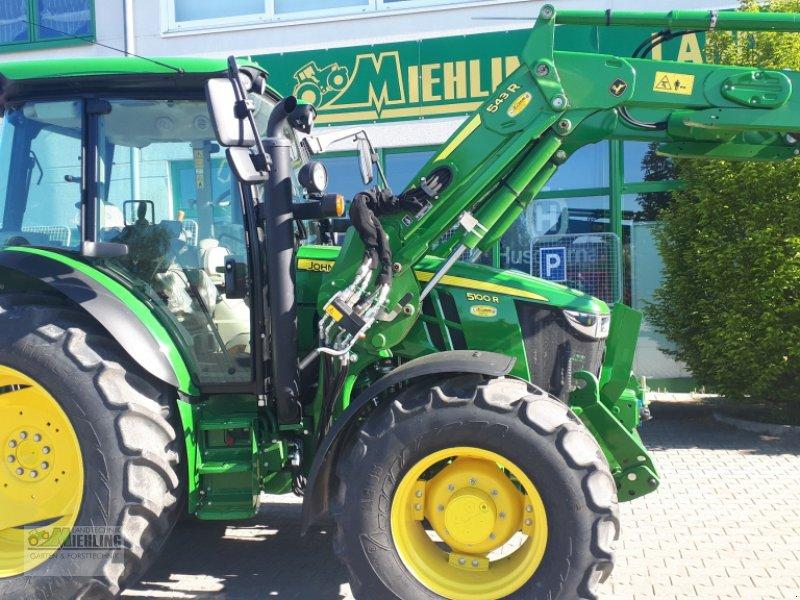 """Traktor des Typs John Deere 5100R mit 543R Frontlader """"Vollausstattung"""", Gebrauchtmaschine in Pollenfeld (Bild 3)"""