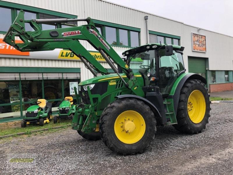 Traktor типа John Deere 6150R AutoPowr 50km/h mit Stoll Frontlader FZ50.1, Gebrauchtmaschine в Barsinghausen OT Gro (Фотография 1)