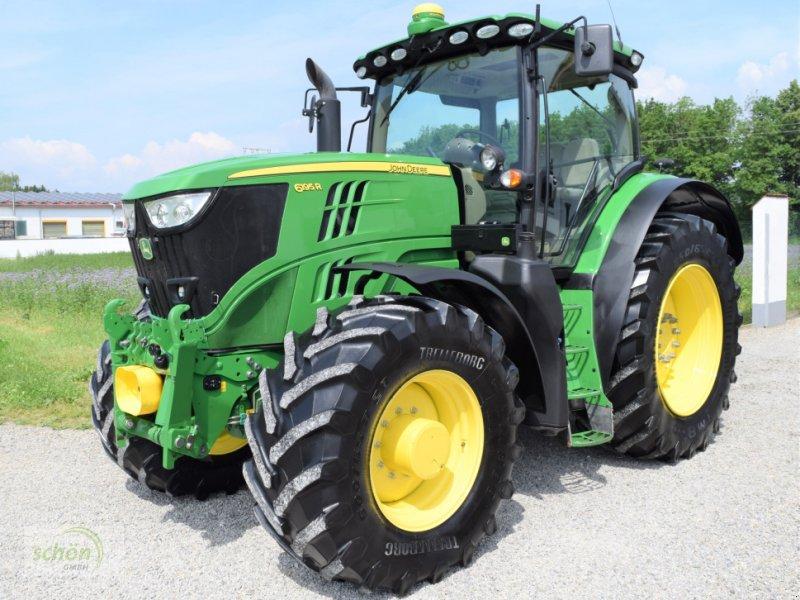 Traktor tip John Deere 6195 R mit einer Topausstattung, AutoTrac, StarFire 3000, FH, FZ, 50 km/h, K80, Premium,..., Gebrauchtmaschine in Burgrieden (Poză 1)
