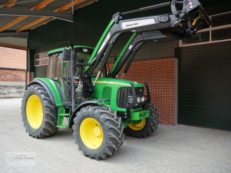 Traktor des Typs John Deere 6220 + Quicke Q5m Lader, Gebrauchtmaschine in Borken (Bild 1)