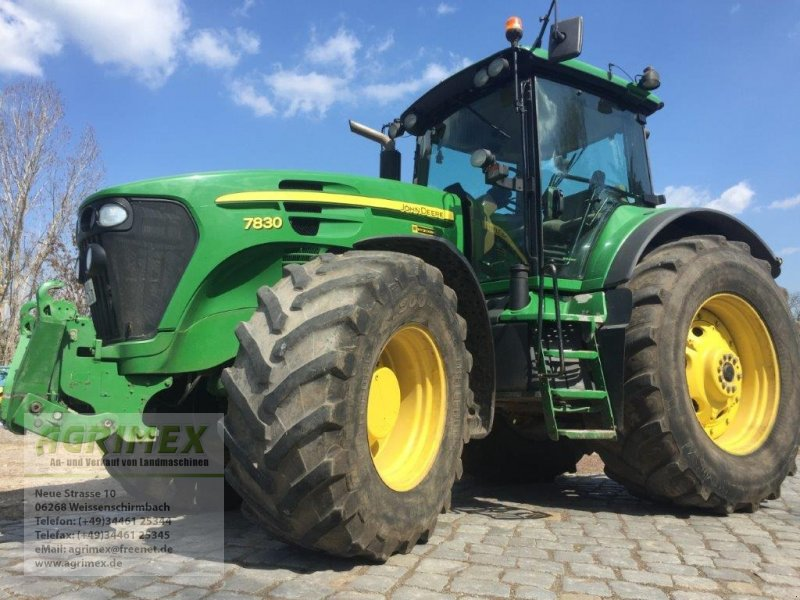 Traktor типа John Deere 7830, Gebrauchtmaschine в Weißenschirmbach (Фотография 1)