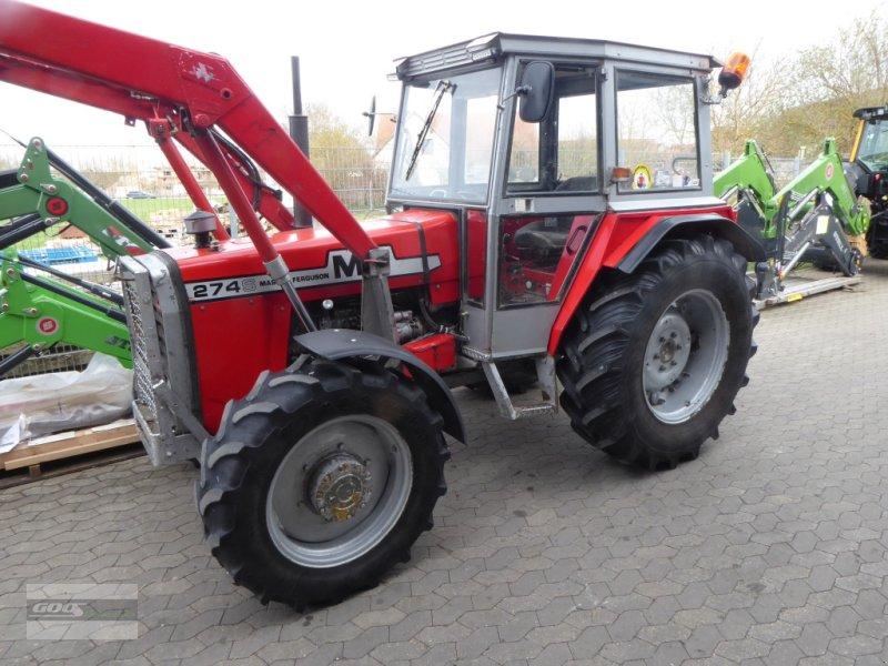 Traktor des Typs Massey Ferguson 274S Allr. mit Kabine und Frontlader. Guter Zustand!, Gebrauchtmaschine in Langenzenn (Bild 1)