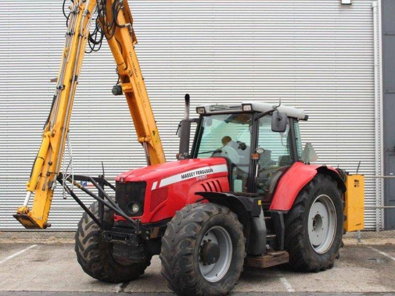 Traktor des Typs Massey Ferguson 6480 Dyna-6 met Herder Grenadier MBK 513 LS, Gebrauchtmaschine in Geldermalsen (Bild 1)