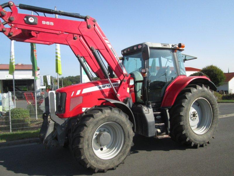Traktor des Typs Massey Ferguson 6480 Dyna 6 mit Alö Q65 Frontlader, Gebrauchtmaschine in Wülfershausen an der Saale (Bild 1)
