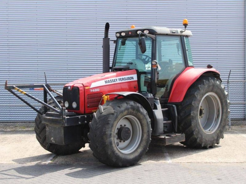 Traktor des Typs Massey Ferguson 7480 Dyna-VT met Herder frame, Gebrauchtmaschine in Geldermalsen (Bild 1)