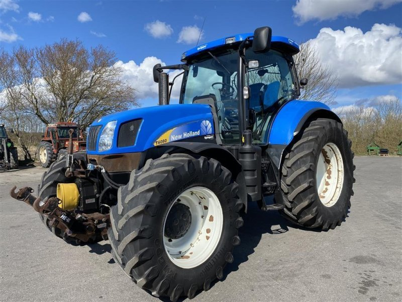 Traktor a típus New Holland T6080 RANGECOMMAND OG FRONT PTO!, Gebrauchtmaschine ekkor: Aalestrup (Kép 1)