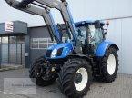 Traktor des Typs New Holland T6.160 AC Quicke Q56 Lader in Borken