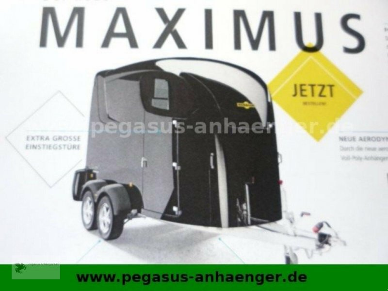 Viehanhänger des Typs Humbaur MAXIMUS 2700, Vollpoly grau, SK, Aluboden, 2,7to, Neumaschine in Gevelsberg (Bild 6)