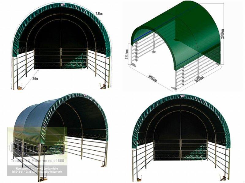 Weidezelt des Typs P.Lindberg GmbH Unterstand 3 x 3 x 2,8 m Halle Winddicht PVC-Plane 610 Gramm/ m² Weidezelt Lager UV, Neumaschine in Großenwiehe (Bild 1)