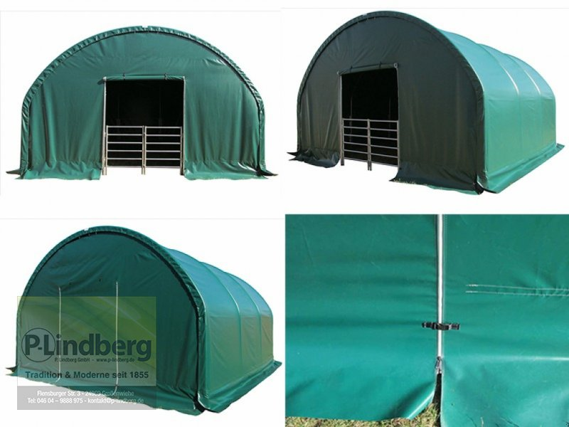 Weidezelt des Typs P.Lindberg GmbH Unterstand 6 x 6 x 3,7m Halle Weidezelt Witterungsschutz Schneelast Windlast UV, Neumaschine in Großenwiehe (Bild 1)