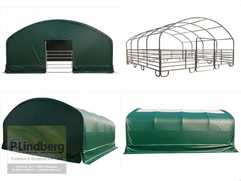 Weidezelt des Typs P.Lindberg GmbH Unterstand 8 x 8 x 4 m Weidezelt Witterungsschutz Schneelast Windlast 650 g/m², Neumaschine in Großenwiehe (Bild 1)