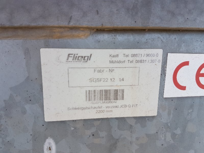 Zubehör typu Fliegl Schwergutschaufel 2200 mm - JCB Aufnahme -NEU-, Ausstellungsmaschine v Neubrandenburg (Obrázok 3)
