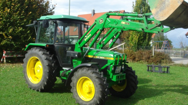 traktor john deere 2850 mit frontlader. Black Bedroom Furniture Sets. Home Design Ideas