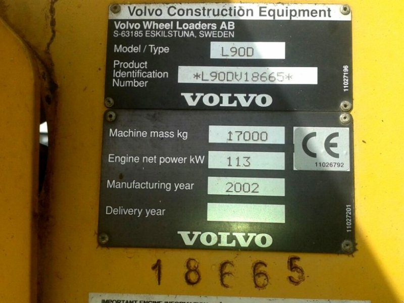 Volvo L 90 D Schnellwechsler, 3. Hydraulikkreis Kolový nakladač ...