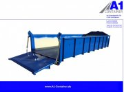 A1-Container Normbehälter 15m³ Pendelklappe abklappbar BLAU Abrollcontainer