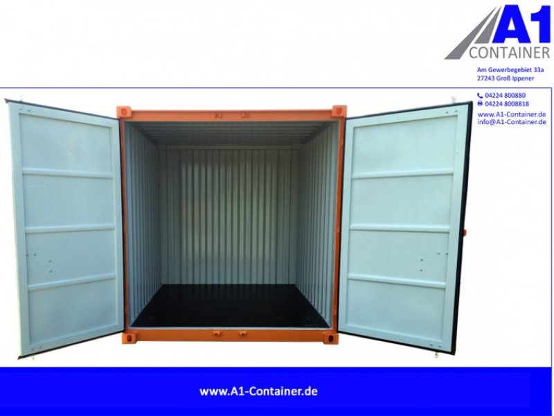 a1 container 10 fu lager bau materialcontainer orange container. Black Bedroom Furniture Sets. Home Design Ideas