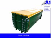 A1-Container ECOLINE 35m³ mit Rollplane Abrollcontainer