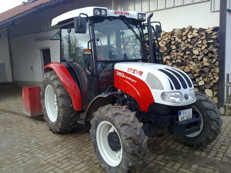 steyr 360 kompakt allrad traktor. Black Bedroom Furniture Sets. Home Design Ideas