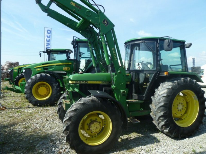 john deere 2850 mit frontlader traktor. Black Bedroom Furniture Sets. Home Design Ideas